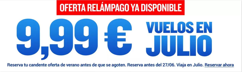 Solo hoy 26/06/21 vuelos con Ryanair desde 9,99€