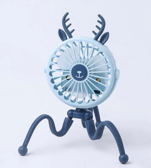 Mini ventilador portátil con luz