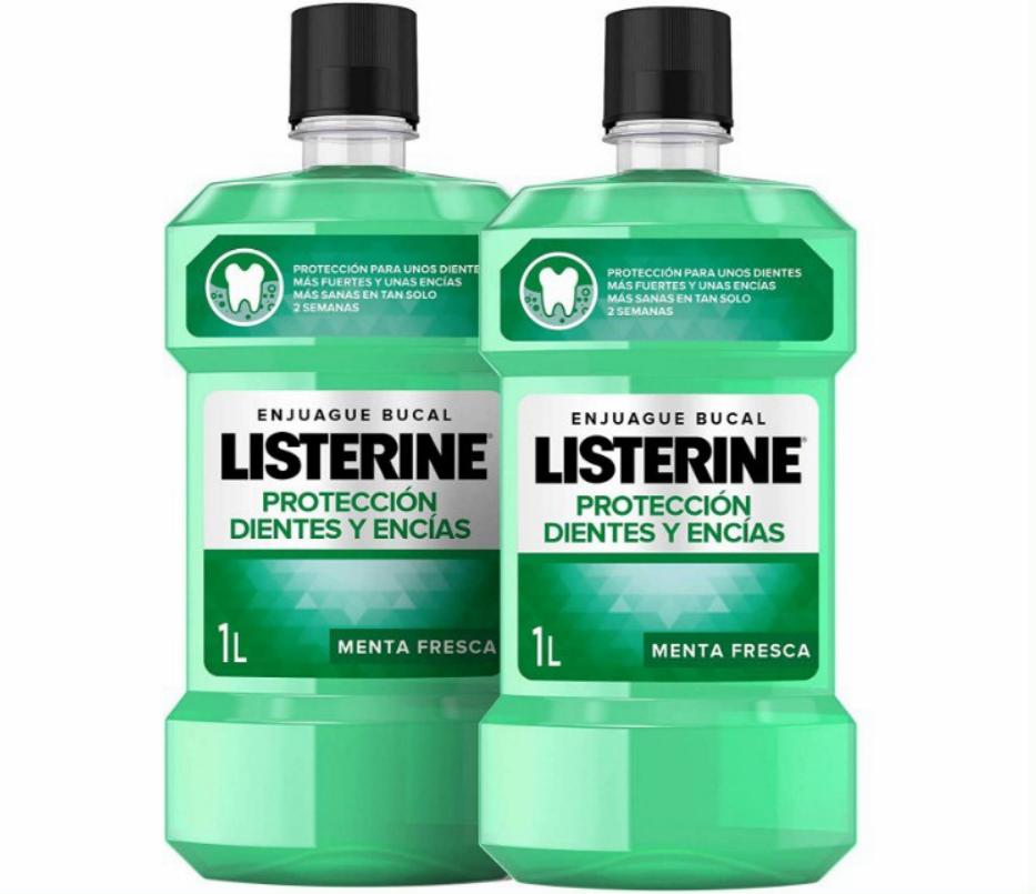 Listerine Enjuague Bucal Protección Dientes y Encías Pack 2x1000ml