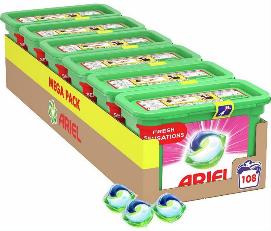 108 Lavados Ariel Allin1 Pods Fragancia Sensaciones