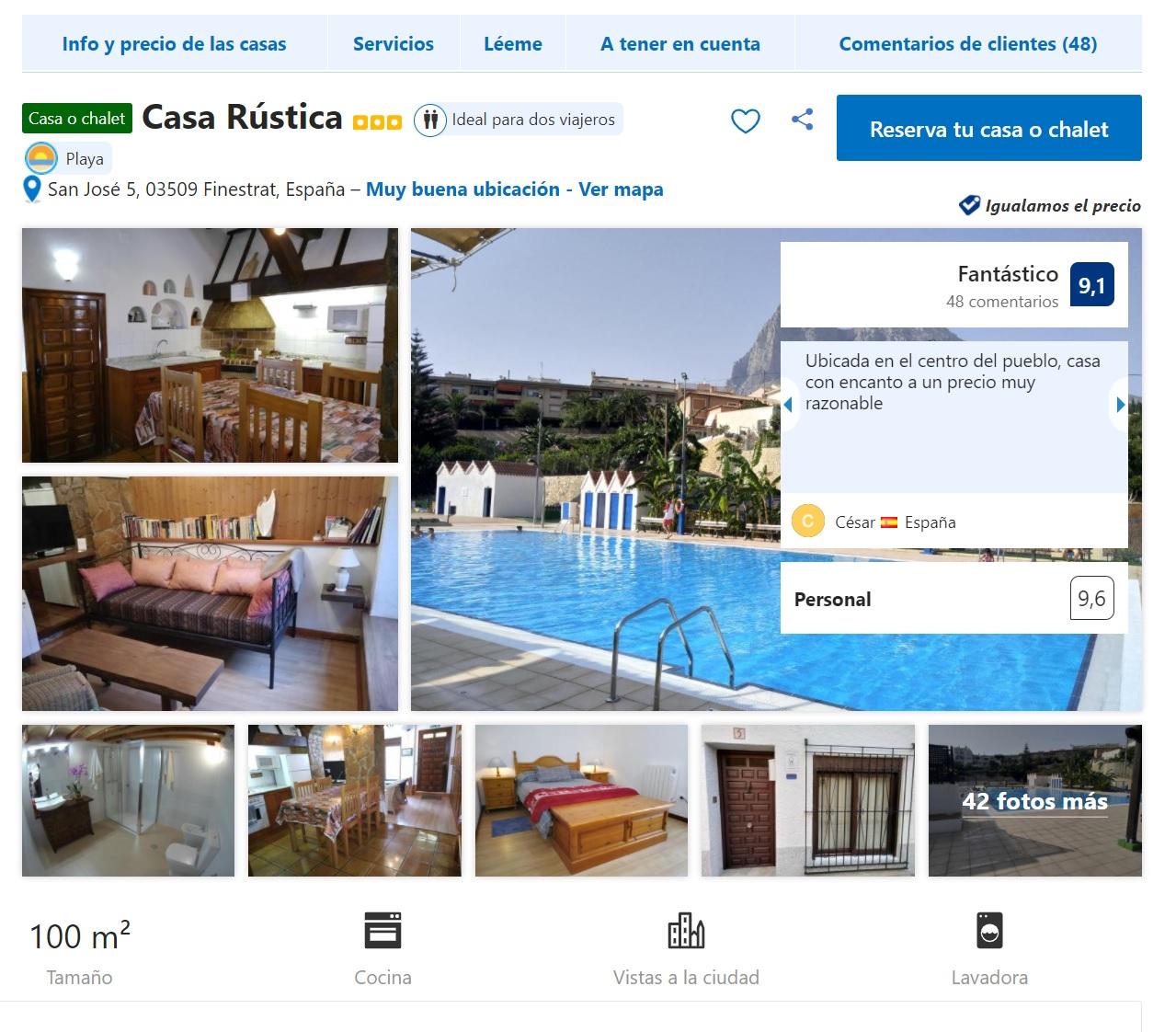 Casa Rústica Muchas Fechas desde 13.5€/noche por persona!