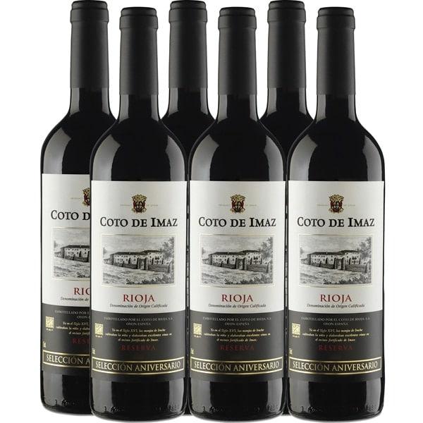 6x 75cl Vino tinto reserva DOCa Rioja Selección Aniversario