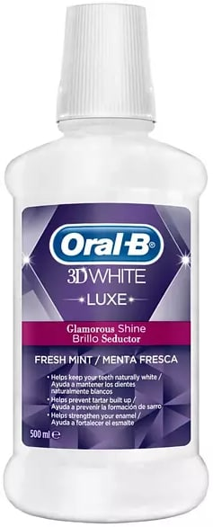 Enjuague Bucal Oral-B 3D Luxe 500ml Menta Fresca