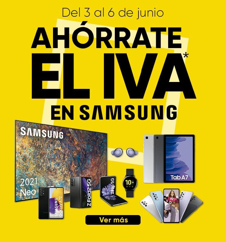Días sin IVA en artículos Samsung en Fnac