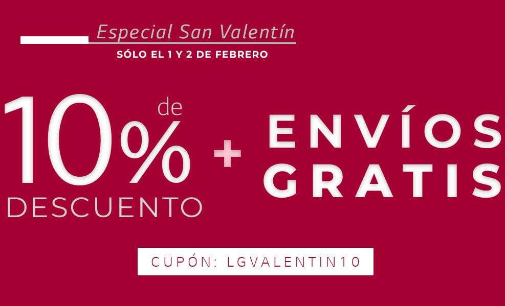 10% de dto. + envíos gratis Especial San Valentín en LG