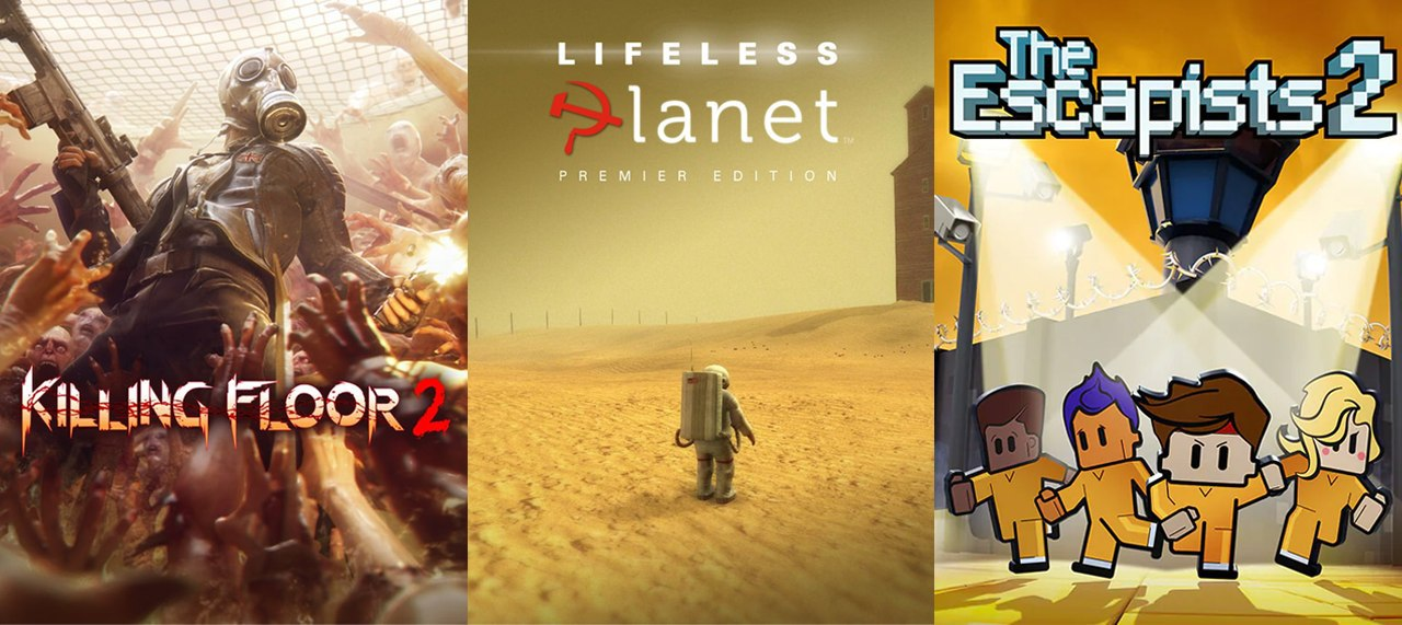 Killing Floor 2, Lifeless Planet y The Escapists 2 Epic Games