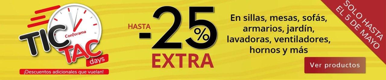 Hasta 25% de dto. EXTRA en Muebles, sofás y Electrodomésticos en Conforama
