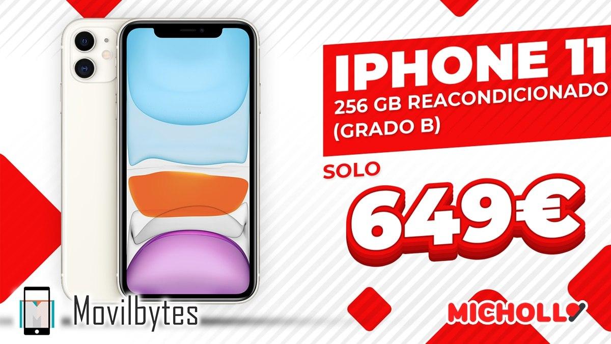iPhone 11 256GB Reacondicionado (Grado B)