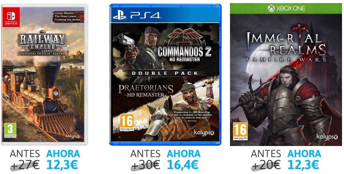 Descuentos en selección videojuegos Switch, PS4 y XBOX