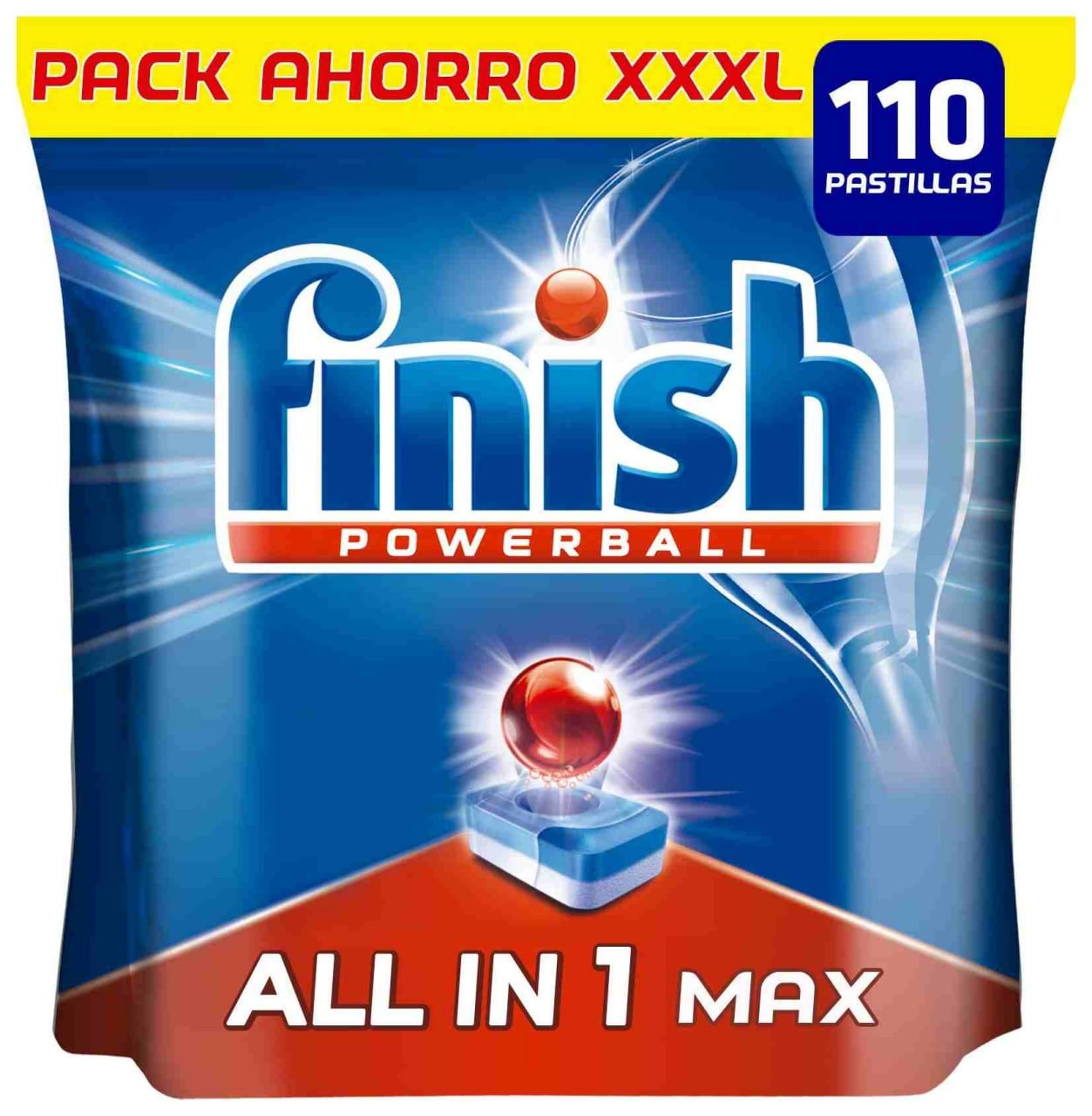 Finish Powerball All in 1 Max 110 unidades