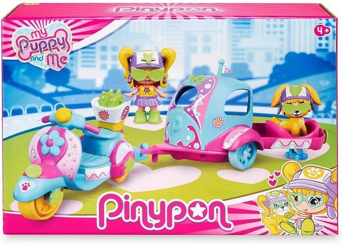 Set Pinypon My Puppy and Me Moto, Remolque y Figuras