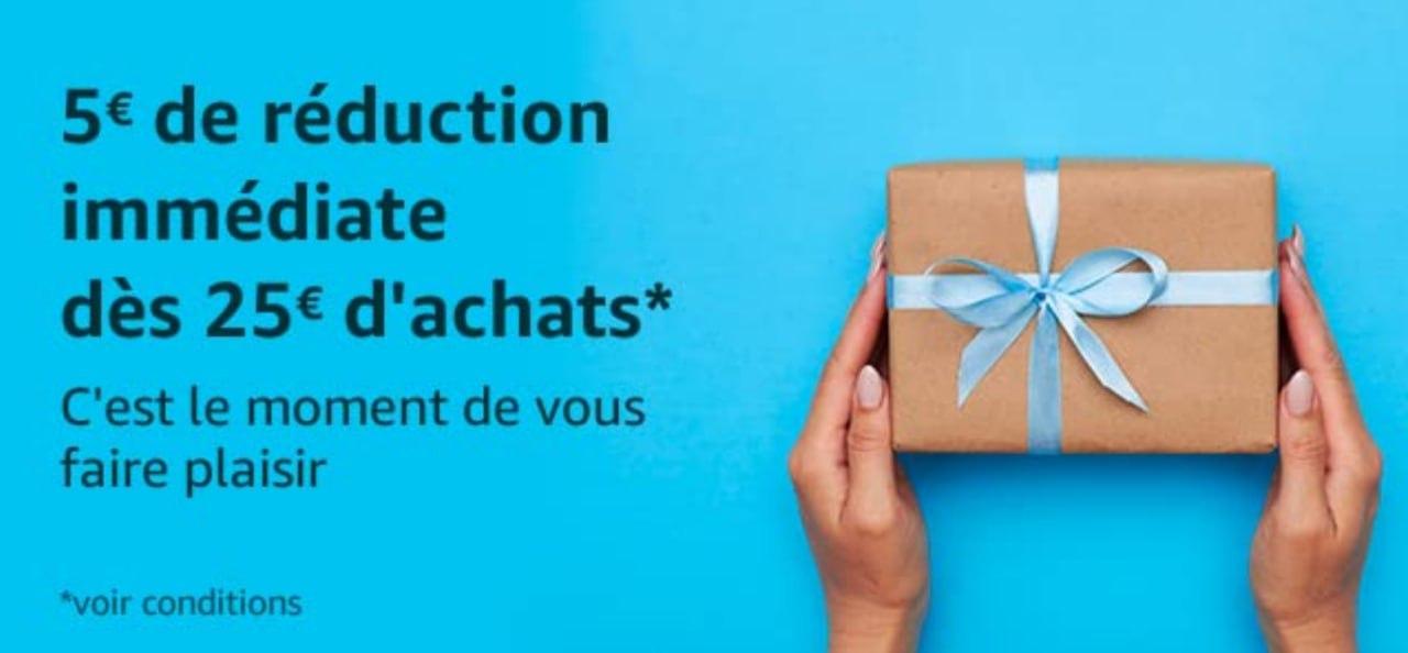 Nueva promoción 5€ de dto. en pedidos +25€ (Cuentas Seleccionadas) en Amazon Francia