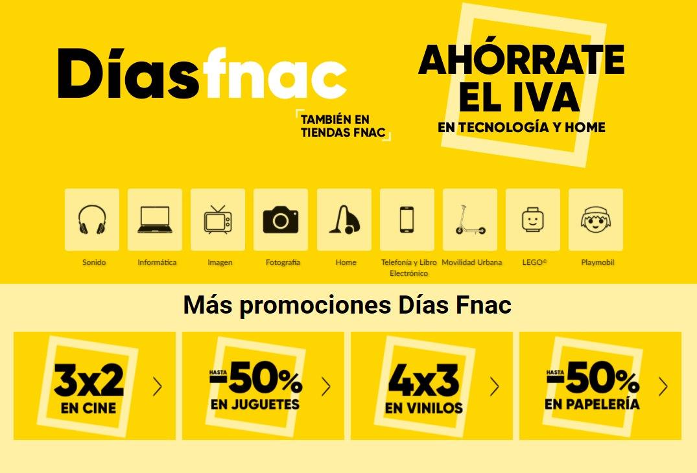 Hasta 50% de dto. + ahorro del IVA en los Días Fnac