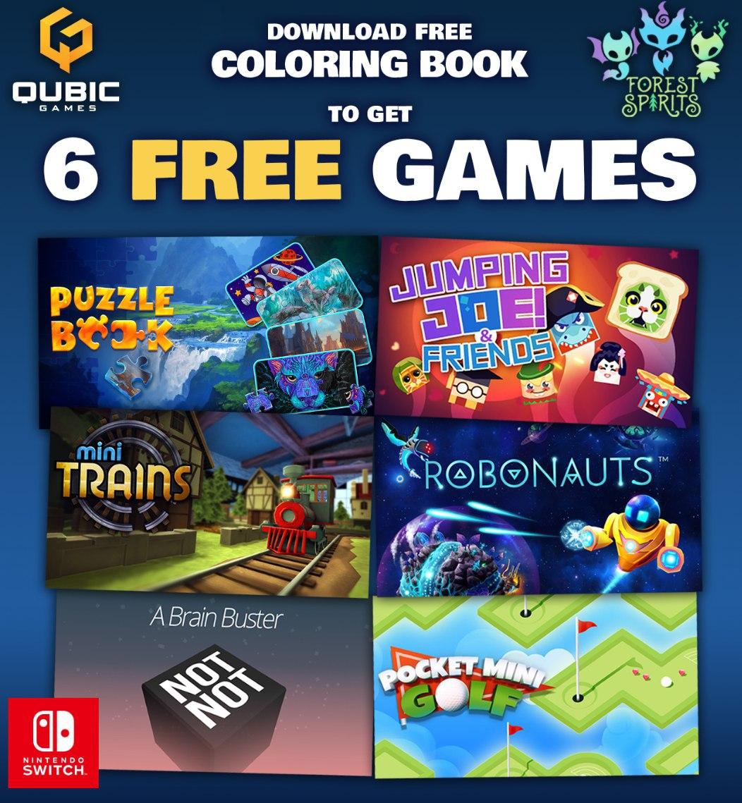 6 Juegos para Nintendo Switch (Al descargar Coloring Book)