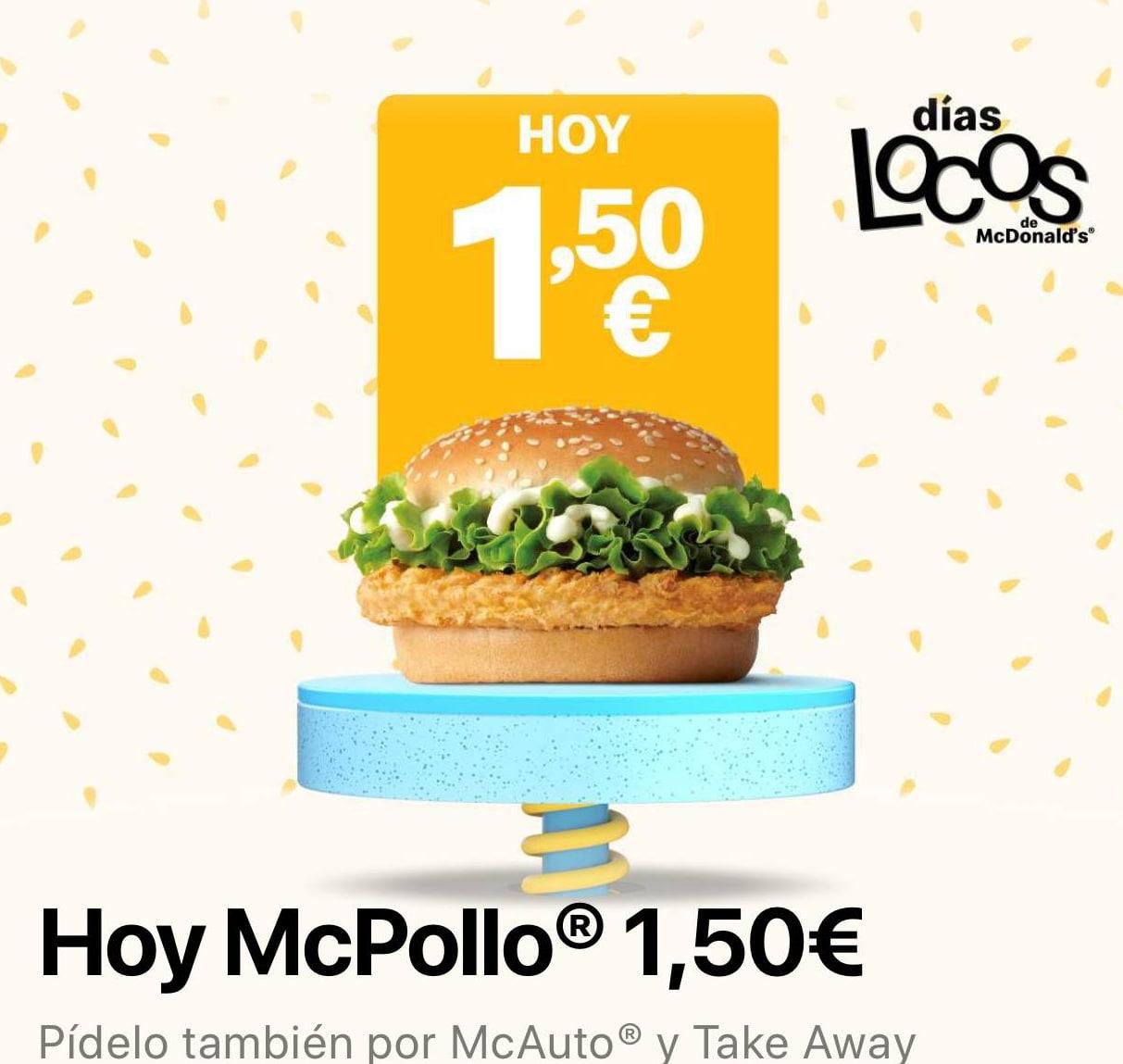 McPollo con los días locos de McDonalds