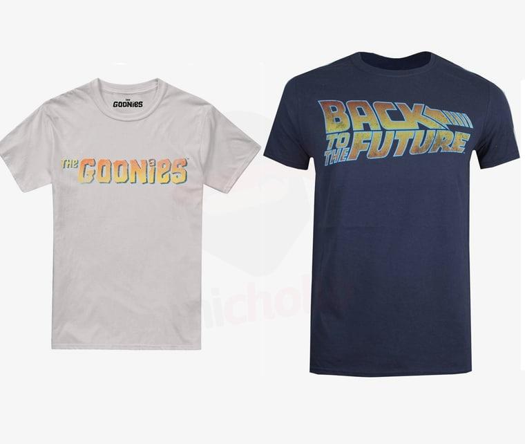 """Camiseta """"The Goonies"""" o """"Black to the future"""" (todas las tallas)"""