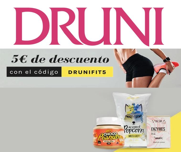 5€ de descuento en Druni para deporte y cuidado personal