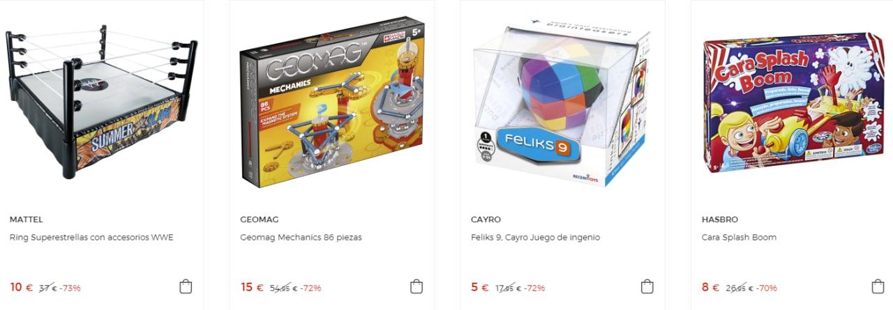 Liquidación hasta 70% de dto. en juguetes en El Corte Inglés