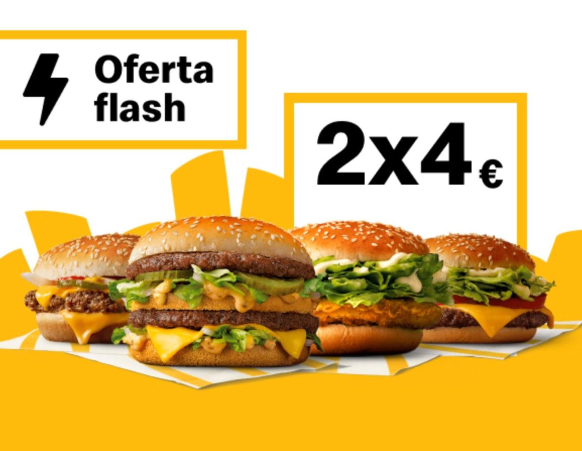 2 Big Mac, McPollo, McRoyal Deluxe o Cuarto de Libra (Oferta semanal)