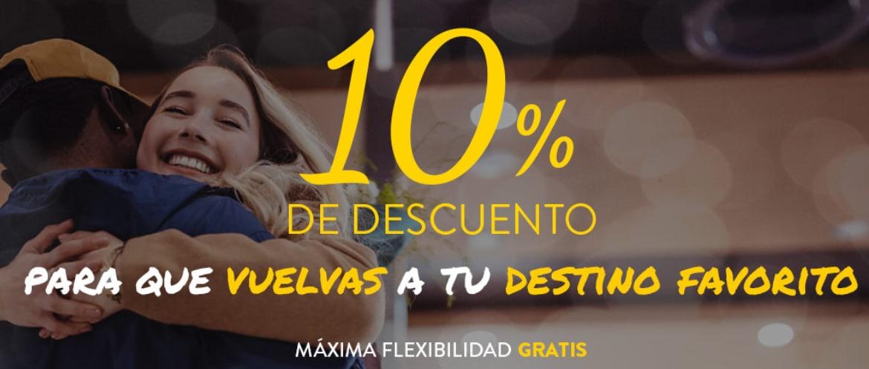 10% de dto. en tu vuelo reservando entre el 9 y el 11 de diciembre en Vueling