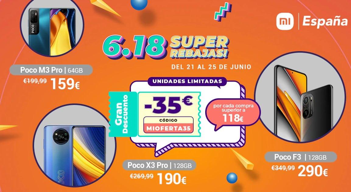 Cupón 35€ Dto. en pedidos +118 € en la tienda de Mi España Aliexpress