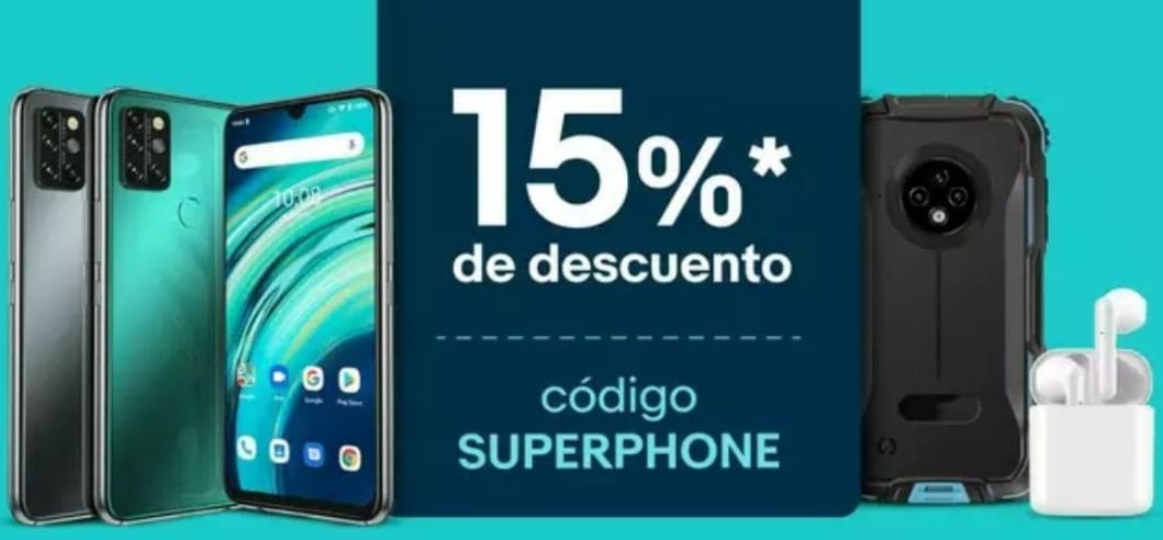 Cupón 15% Dto. en Smartphones y accesorios Ebay