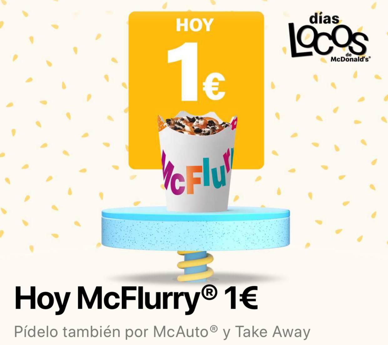 McFlurry con los días locos de McDonalds