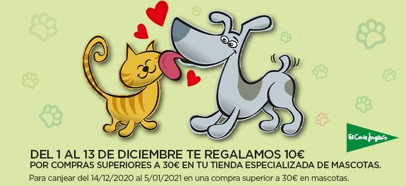 10€ de regalo si compras +30€ en productos de mascotas en El Corte Inglés