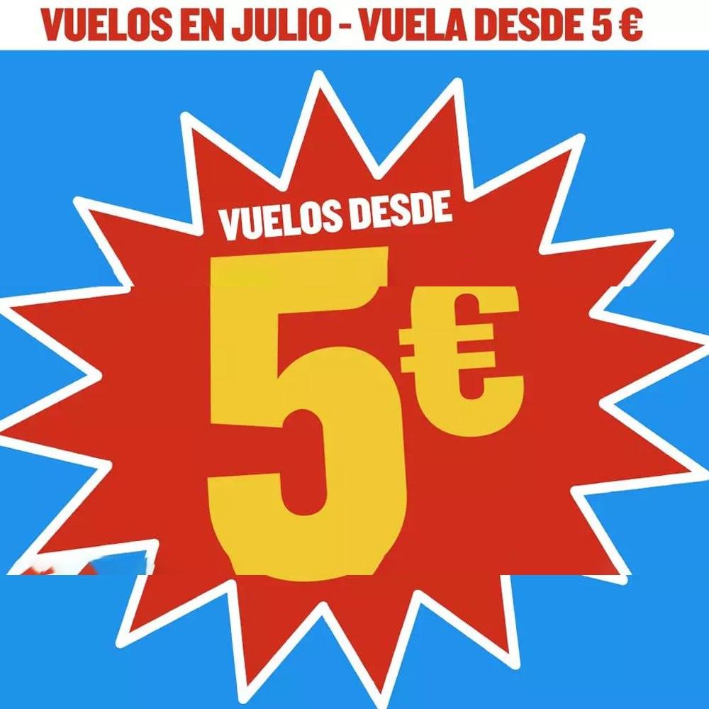 Vuelos en Julio desde 5€