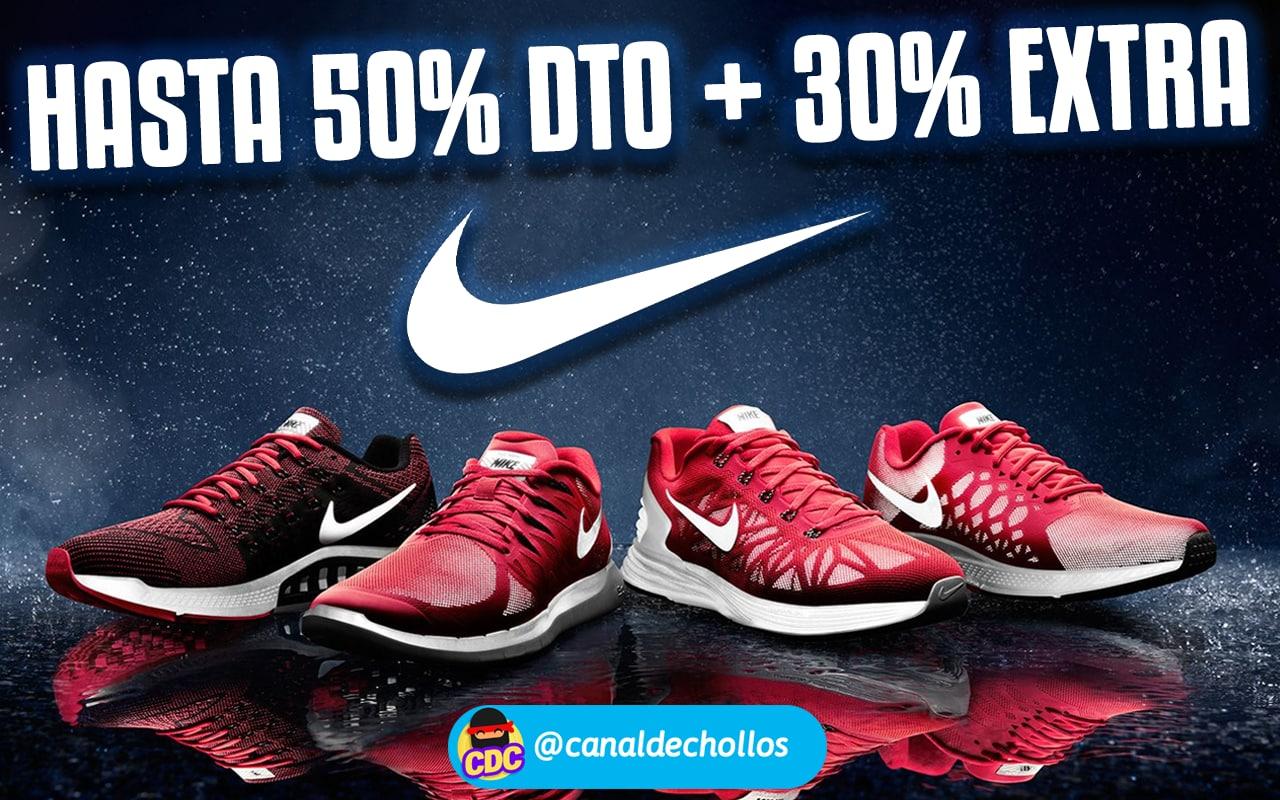 Hasta 50% de dto. + 30% EXTRA en Nike