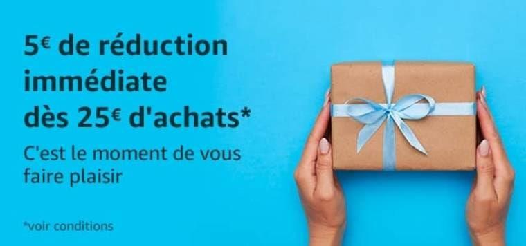 Cupón 5€ de dto. en pedidos +25€ (Cuentas Seleccionadas) en Amazon Francia