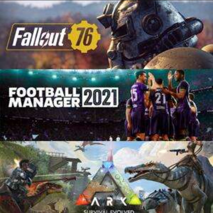Juega a Fallout 76, Football Manager 2021y ARK: Survival Evolved (XBOX One, Serie X|S, PC)
