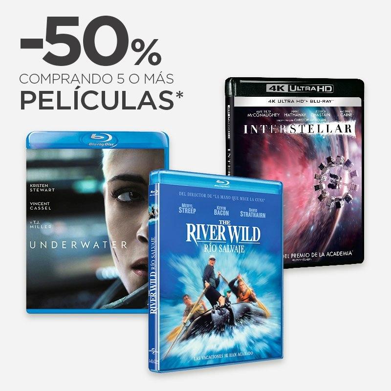 50% de dto. al comprar 5 o más películas en El Corte Inglés