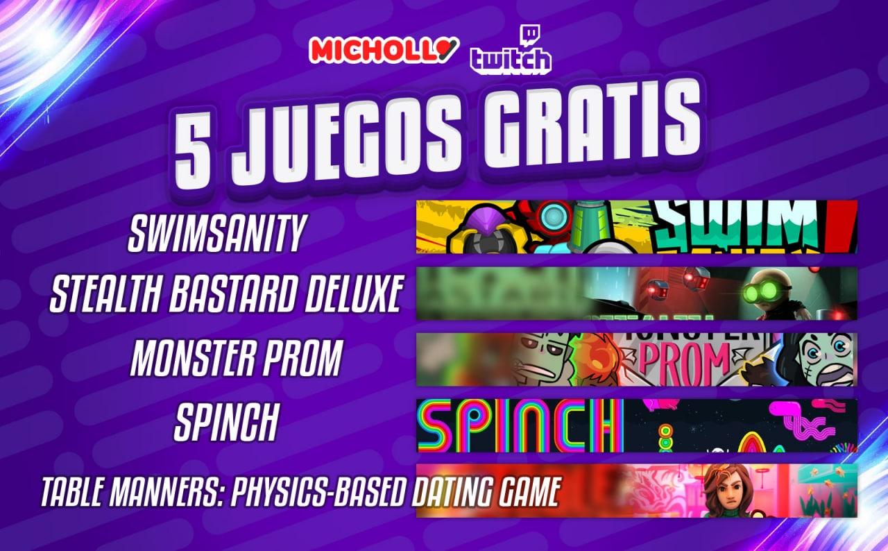 5 Juegos para Twitch GRATIS