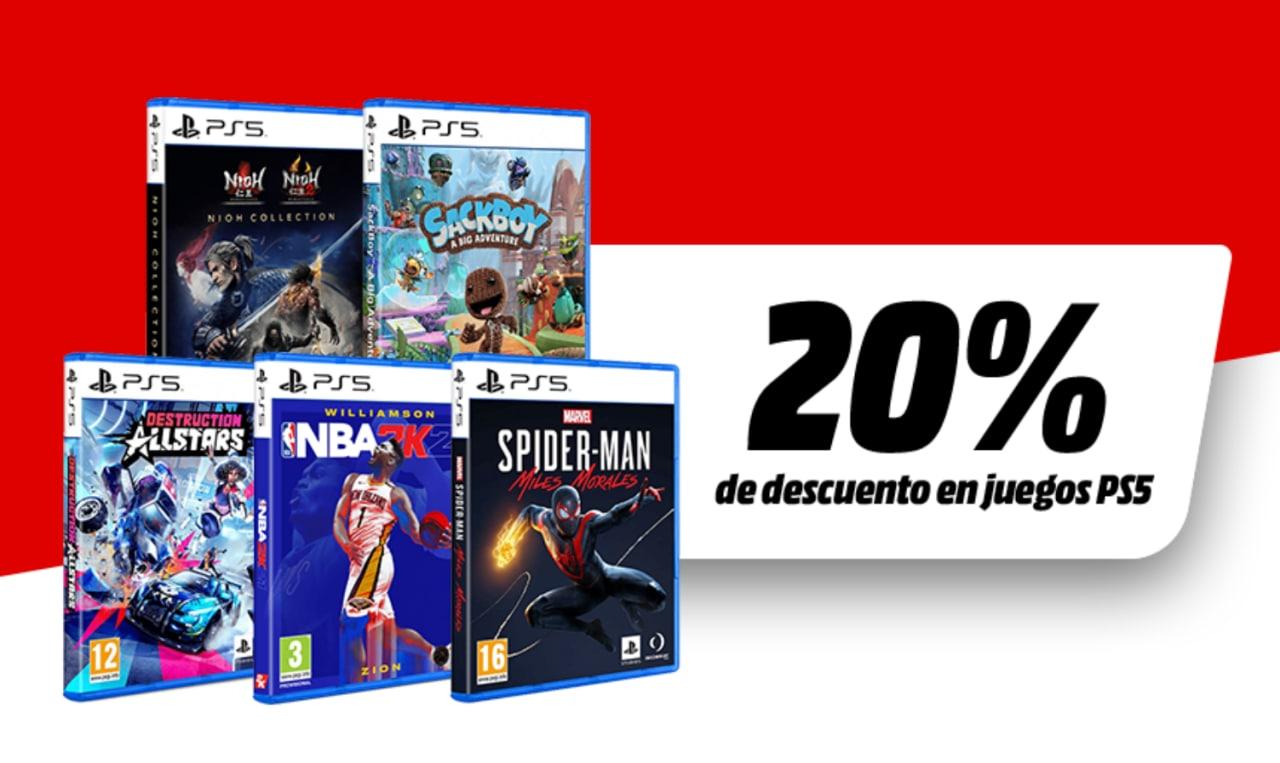 20% Dto. en selección juegos PS5 en Mediamarkt