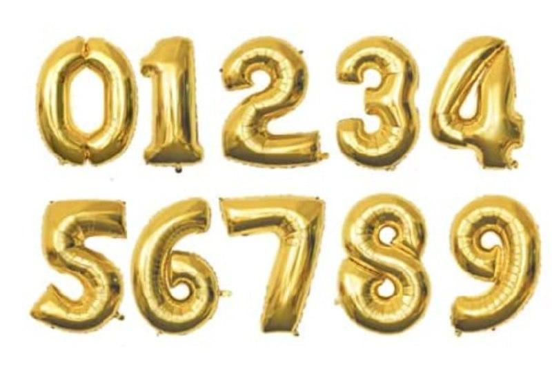 Globos para cumpleaños numerados