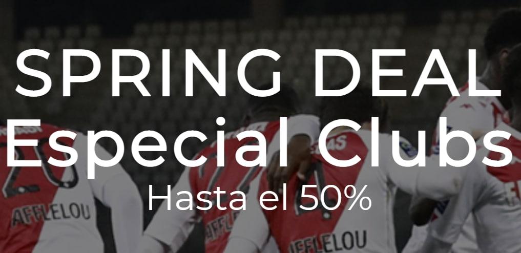 Hasta -50% Dto. en las colecciones 2020-2021 de clubes de fútbol y rugby