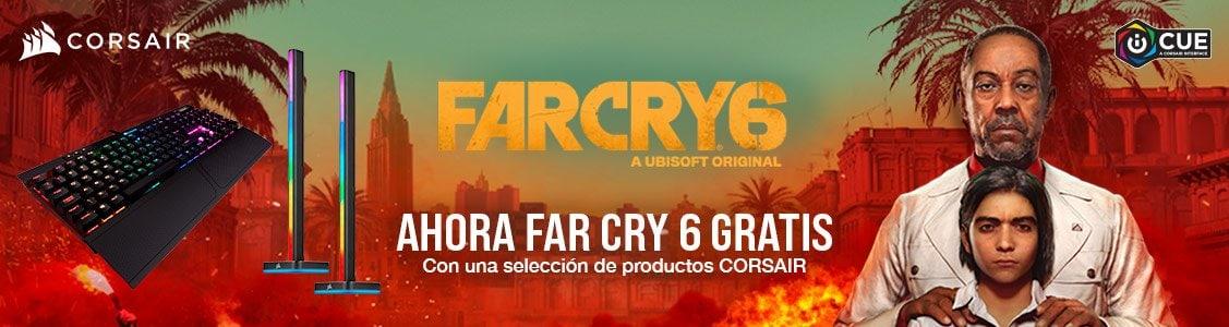 Consigue FarCry 6 GRATIS con la compra de un producto Corsair en PcComponentes