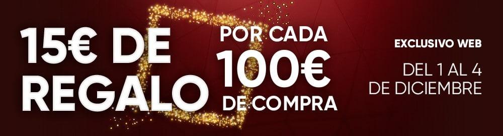 15€ de regalo por cada 100€ de compra en Fnac