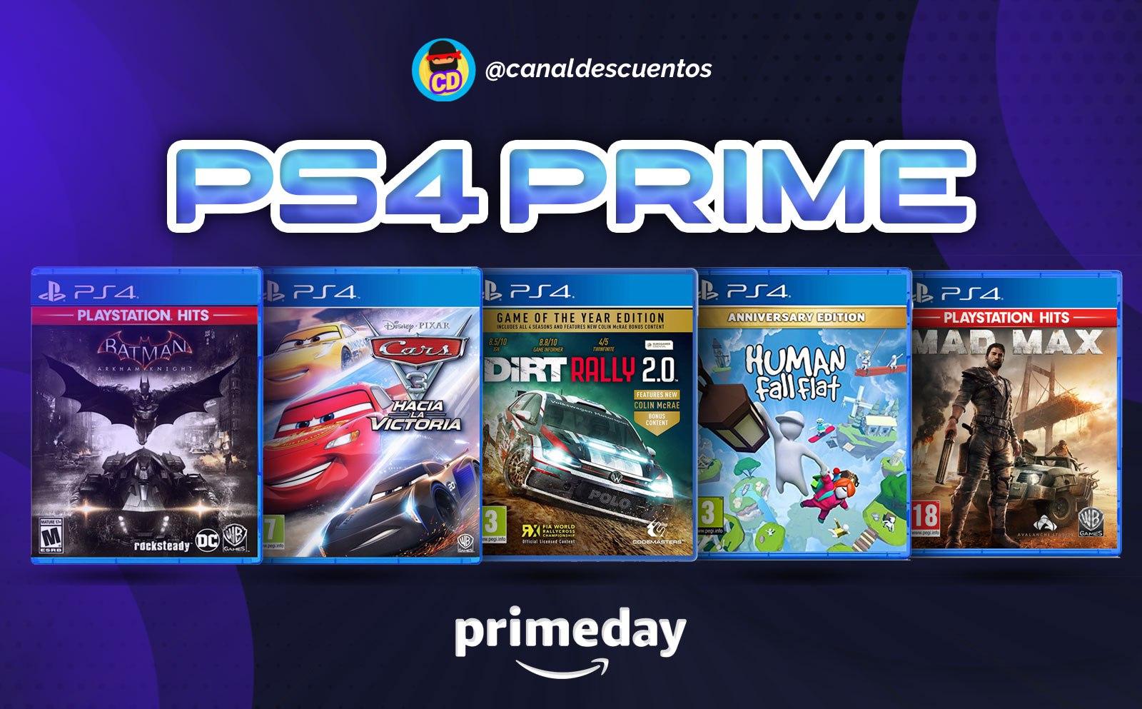 Descuentos en videojuegos para PS4 en Prime Day