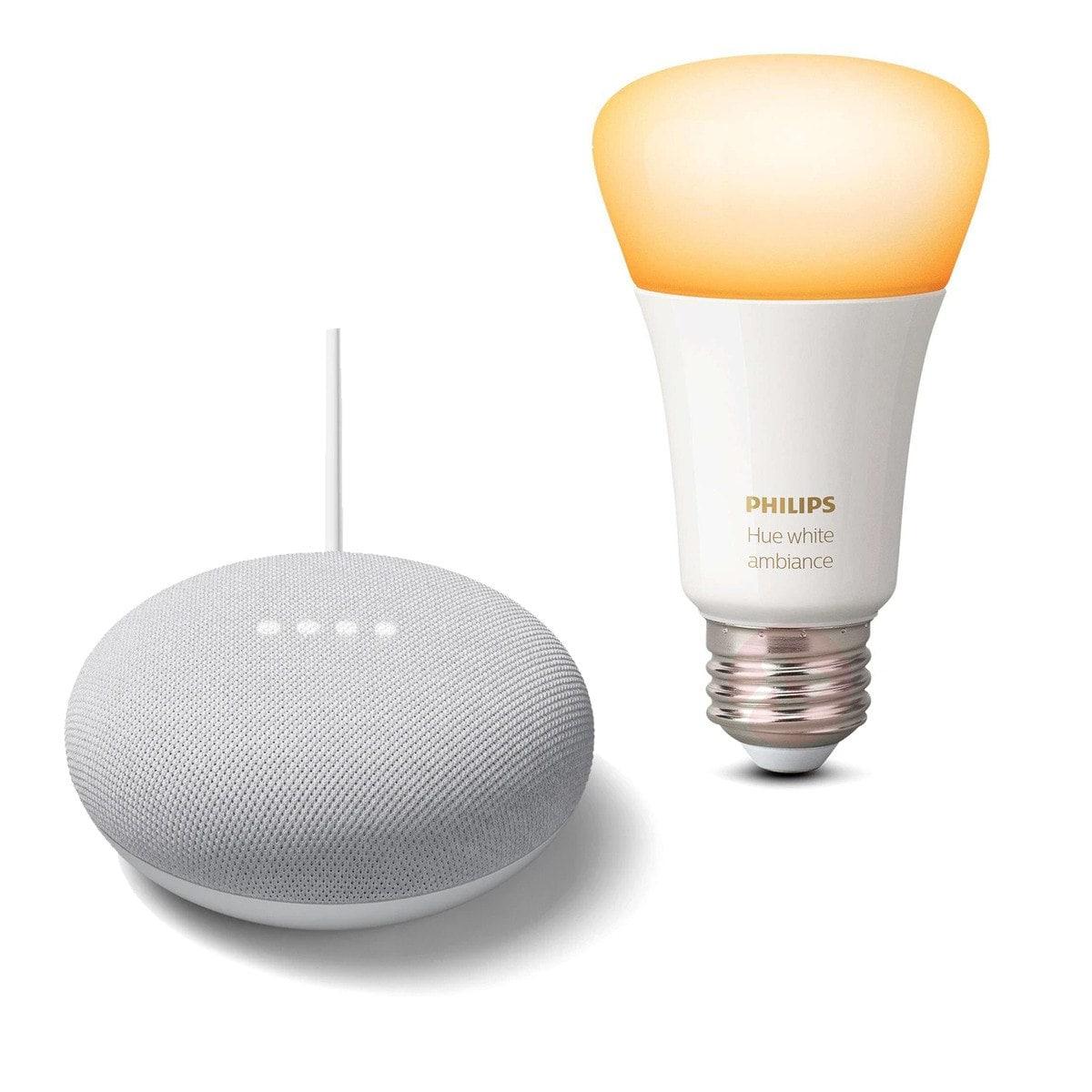 Google Nest Mini + Bombilla inteligente Philips Hue E27