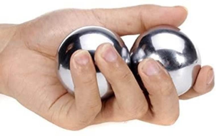 2x Bolas de acero de 52 mm para masajes