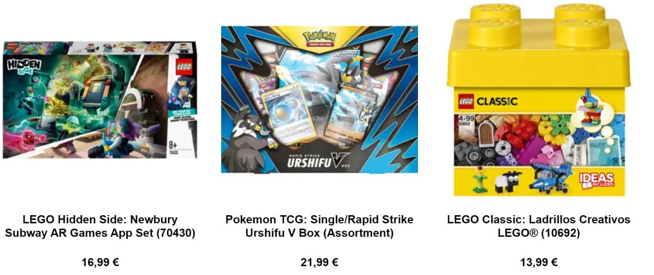 Bajadas en Pokemon, figuras de colección y mucho Lego con envío gratis en Zavvi