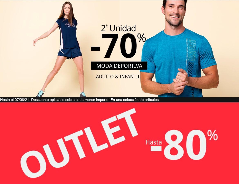 Segunda unidad al 70% en ropa deportiva