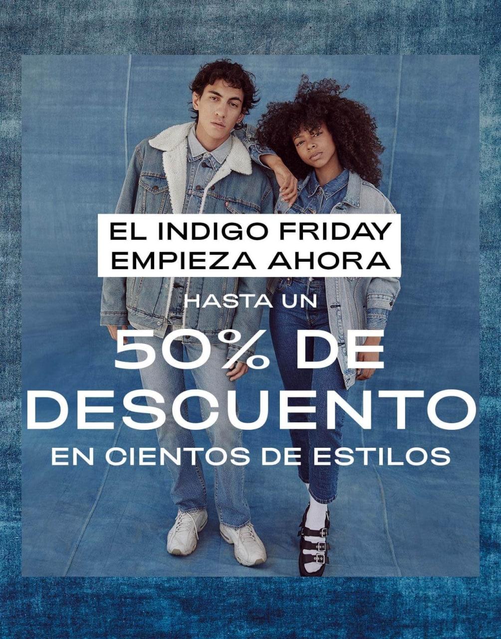 Hasta 50% de dto. selección + 10% EXTRA + envío gratis en Black Friday Levi's