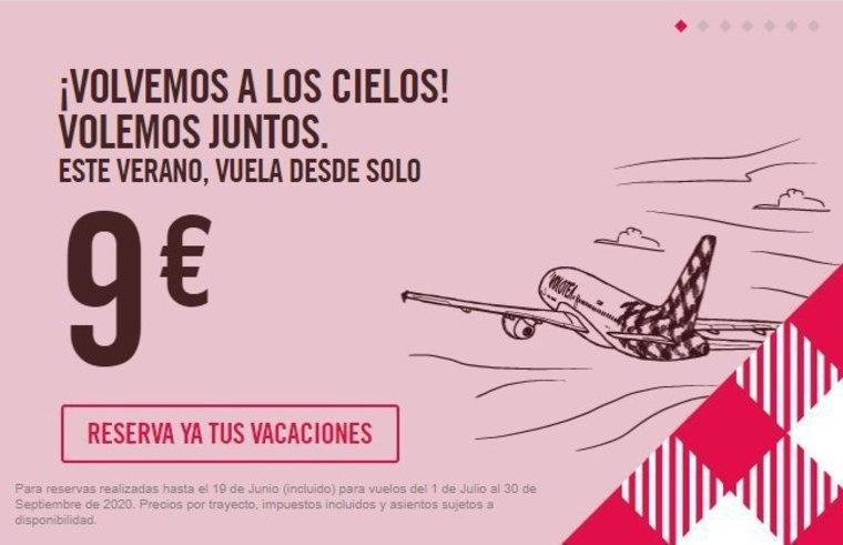 Vuela por España con Volotea