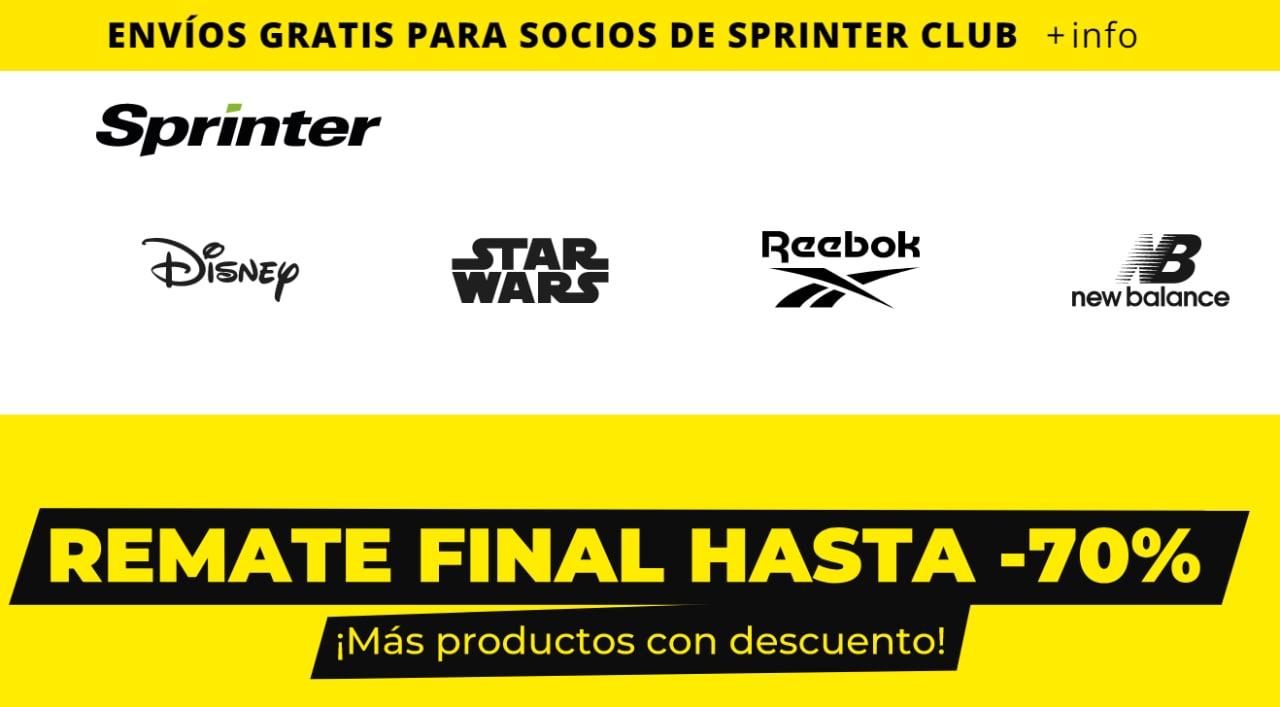 Hasta 70% Dto.+ 5% EXTRA en el remate final de Sprinter
