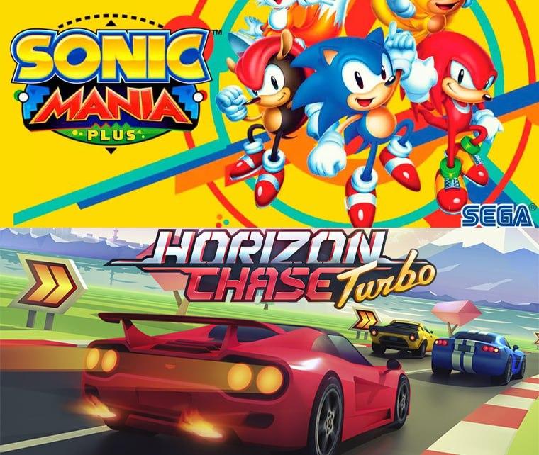 Sonic Mania y Horizon Chase Turbo en Epic Games