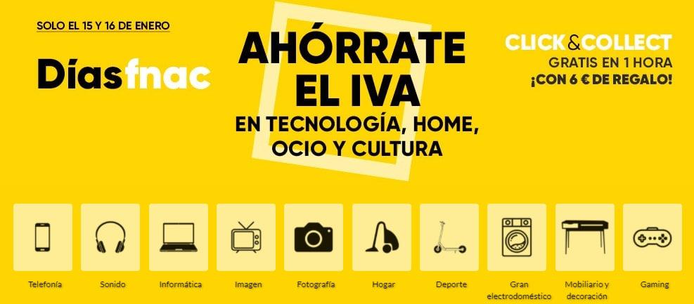 Ahórrate el IVA en Tecnología, Home, Ocio y Cultura en los días Fnac