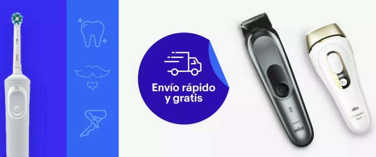 Hasta -40% de descuento y con envío gratis en productos Braun y Oral B